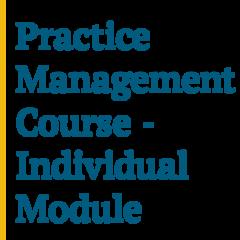 Practice Management Course (Nov 2019) Module 3 - Financial Management